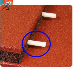 крепление для резиновой плитки