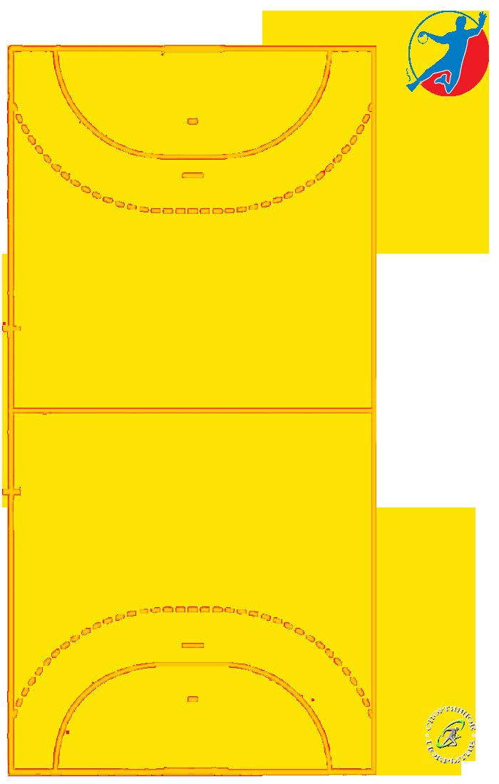 Разметка гандбольной площадки