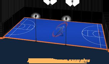 строительство мини-футбольной площадки