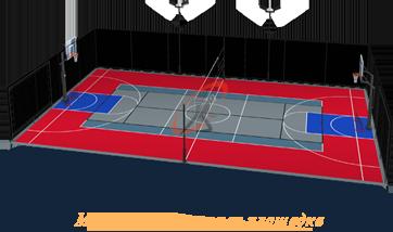Строительство многофункциональной спортивной площадки