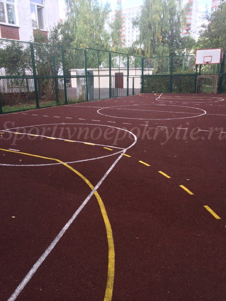 Спортивная площадка СОШ 701 (Разметка гандбол, баскетбол)