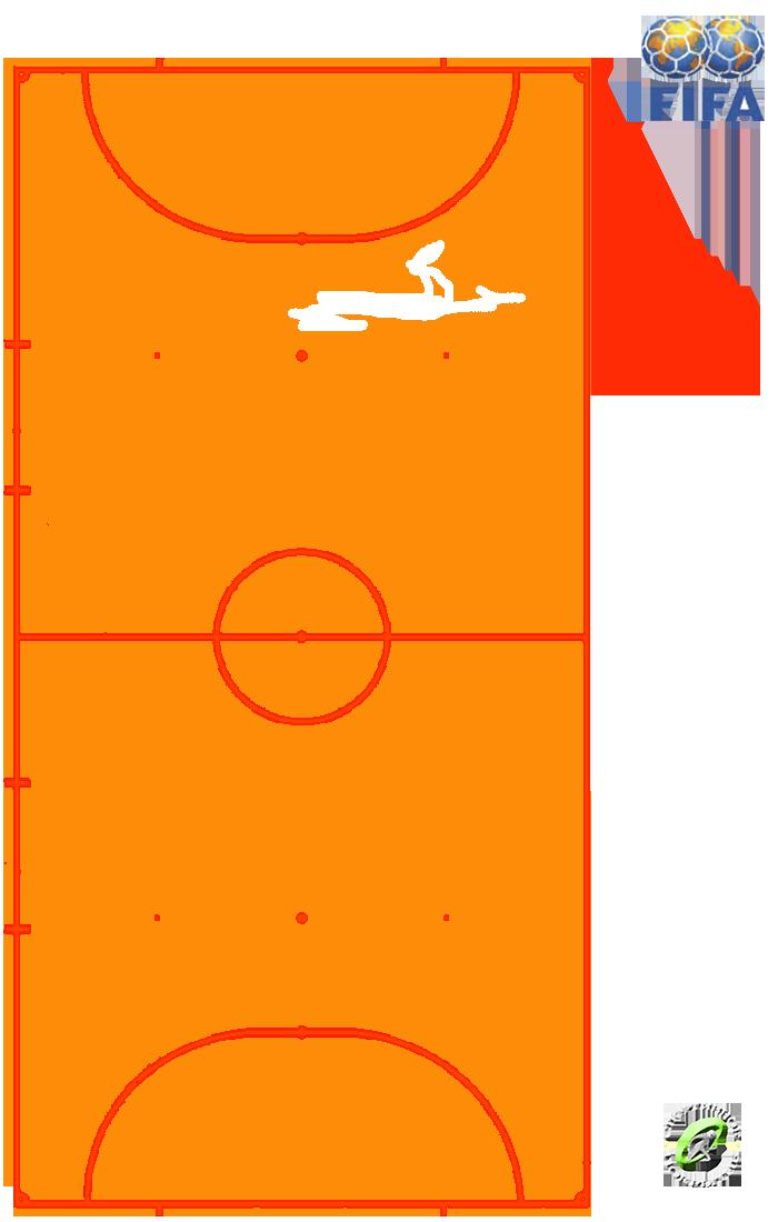 Разметка мини-футбольной площадки