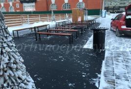 Спортивное резиновое покрытие на катке ВТБ Арена парк
